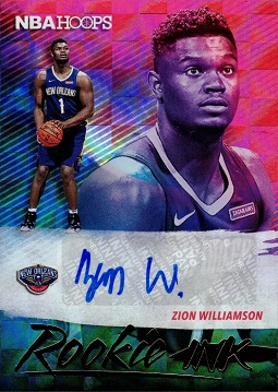 Zion Williamson Certified Autograph Basketball Card