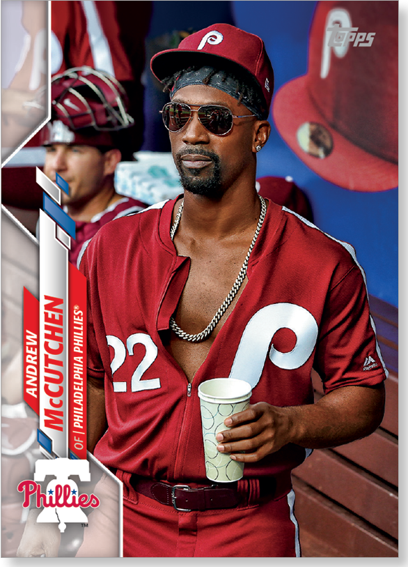 Andrew McCutchen 2020 Topps Short Print SP Photo Variation Poster